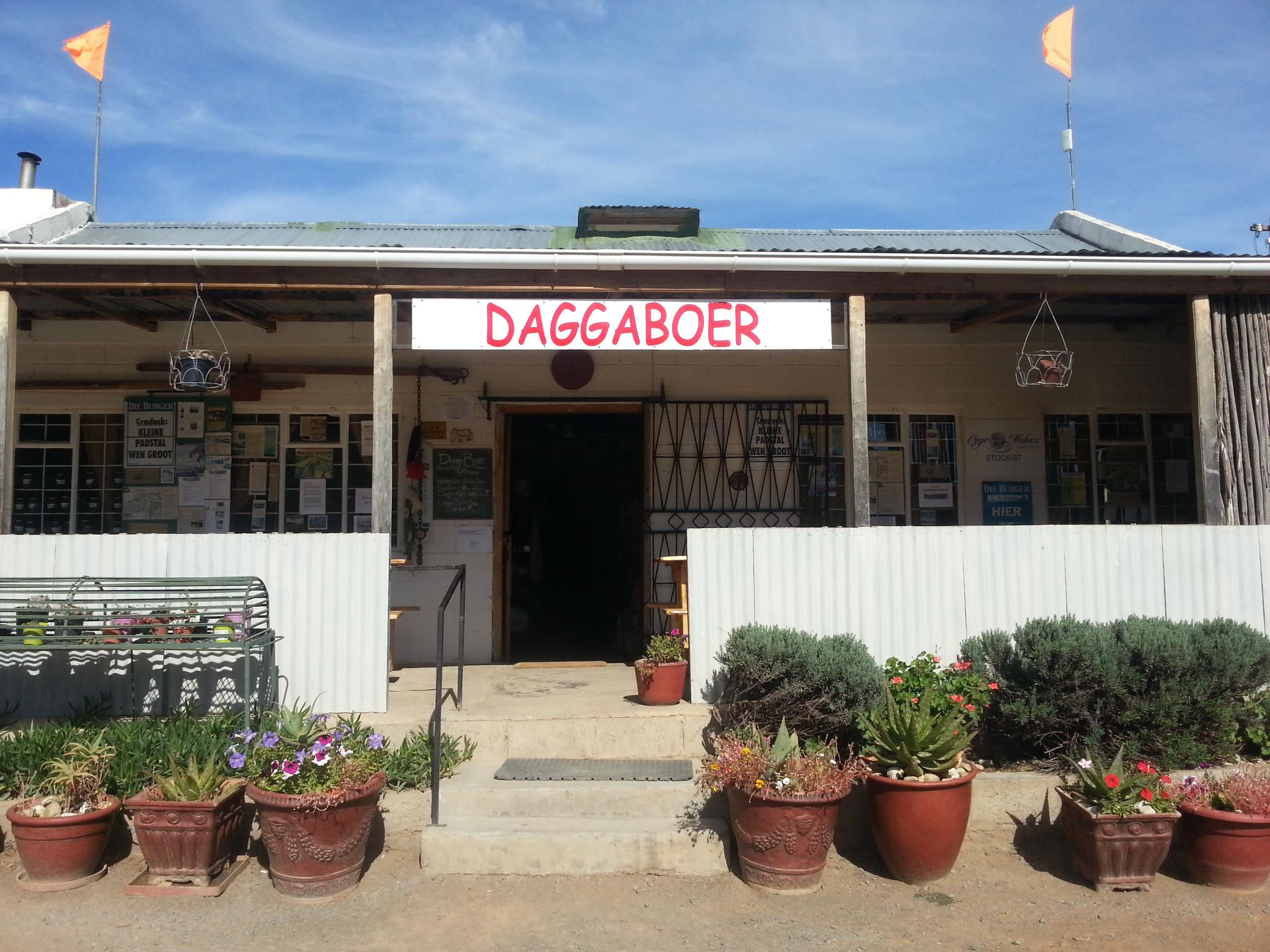 Thulani and the Daggaboer Farm stall